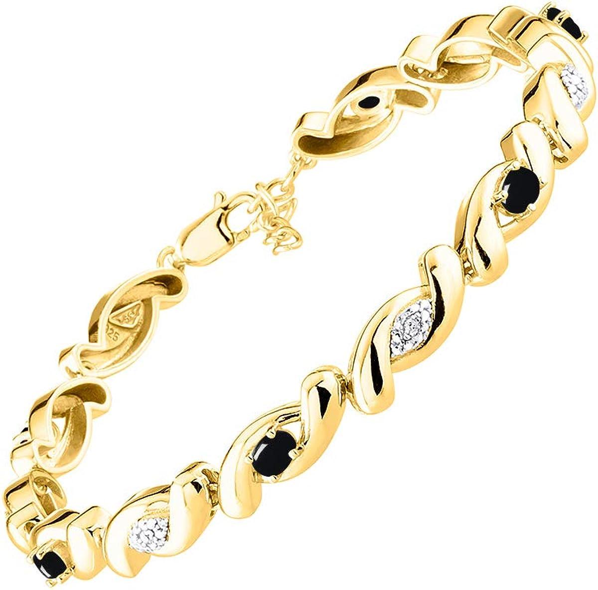 RYLOS Bracelets for 日本限定 Women 925 Tennis infinity Silver Twist 新作アイテム毎日更新 Brace