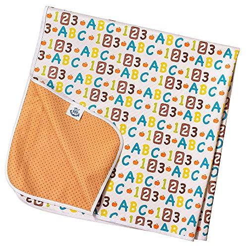 Esterilla antideslizante de TotsAhoy!® Protectora de suelo Destete de bebés Grande Debajo Silla Alta (ABC)