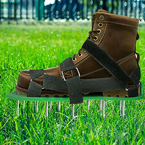 EEIEER Lawn Aerator Shoes, Lawn Aerating Shoes with Hook&Loop Straps, Heavy...