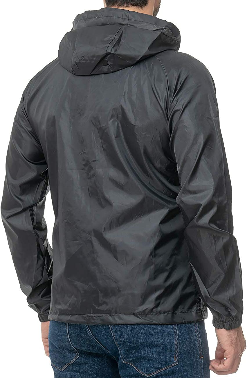 Geographical Norway Mens rain jacket with hood.