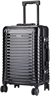"""Stylish and durable Wheels Travel Rolling Boarding,20""""24""""Inch 100% Aluminium Spinner Aluminium Convenient Trolley Case,Super Storage Luggage Bag, high quality (Color : Black, Size : 24inch)"""