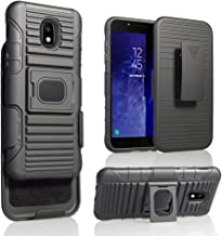 Samsung Galaxy J3 Star 2018, Orbit, Achieve, J3V 3rd Gen, Express Prime 3, Amp Prime 3 J337 [MAGNET MOUNT READY] Ring Armor Holster 5 in 1 Rugged Case With Ring Holder Kickstand + Belt Clip