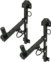 ASC (2) Pro Audio DJ Speaker Stand Wall Fixed Mount Bracket Holder Adjustable Adapter Pair