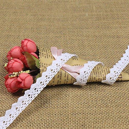 Cinta de encaje vintage beis con ribetes de ganchillo, decoración para costura, decoración, cajas de regalo, 10 metros