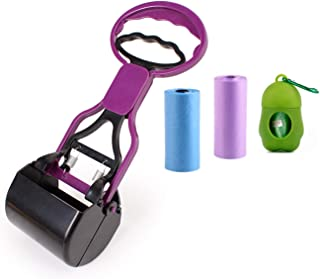 E-YOSILI Pooper Scooper for Dogs with Waste Bag and Poop Bag Dispenser, High Cleaning Tool for Pick Up Pet Waste