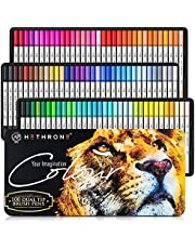 Hethrone 100 Colors Dual Tip Brush Pens Art Markers Set, Pens Markers for Adults Kids Drawing Coloring Calligraphy Lettering Writing (100 Colors White)