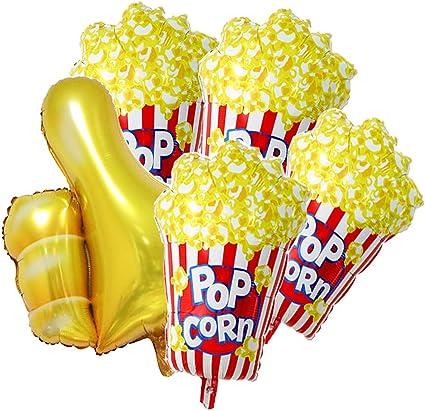 26 x 17 inch Popcorn Party Balloons Movie Popcorn Balloon Foil Party Balloon mylar balloon Movie Night Themed Party Decoration Balloons,10 pcs