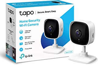 TP-Link Tapo Mini Smart Security Camera, Indoor CCTV, Works with Alexa & Google Home, No Hub Required, 1080p, 2-Way Audio,...