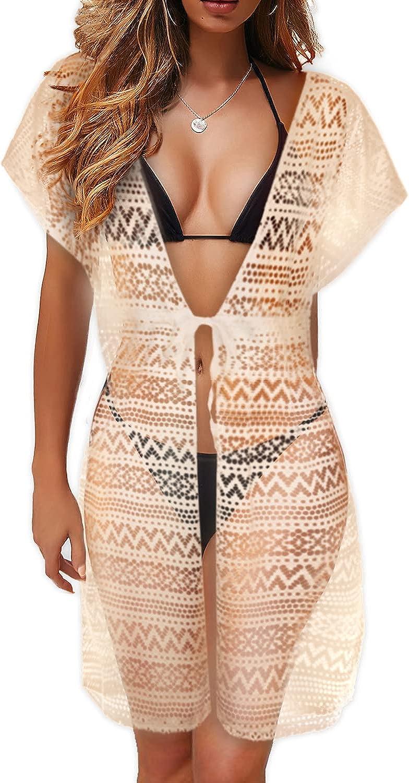 Hybrid & Company Women's Sexy Open Front Crochet Bikini Cover up Swimwear Summer Beach