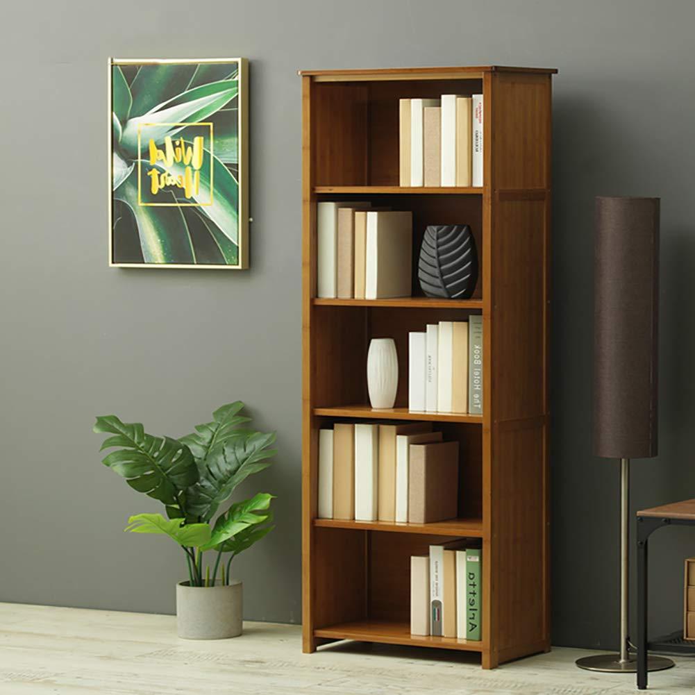 DULPLAY Madera Organizador Librería,Estante del almacenaje Vendimia Tallada Estantería Decorativa Espesado Estantería Estrecha Multifuncional para los Registros y Libros-G 55x31x162cm(22x12x64): Amazon.es: Hogar