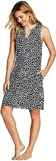 Women's Cotton Jersey Sleeveless Swim Cover-up Dress Print