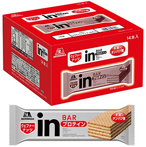 【Amazon.co.jp限定】inバー プロテイン ナッツ (14本入×1箱) ナッツペーストの甘味を感じるウェファータイプ 高タンパク10g
