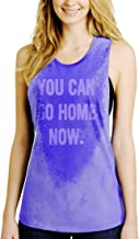 LeRage You Can Go Home Now Hidden Message Gym Tank Top Funny Workout Shirt 2XL Purple