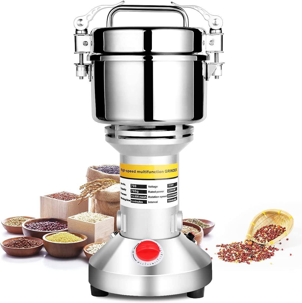 Large Ranking integrated 1st place discharge sale Gimify 700g Electric Grain Grinder Mill Spice Dry Herb