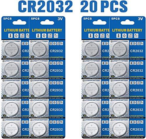 Batería de Litio CR2032 3V, botón electrónico de la célula de la Moneda para los Relojes de Las calculadoras de los Juguetes (20 Pilas)