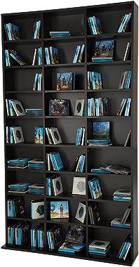 TecTake Étagère Rangement CD/DVD Meuble de Rangement pour 1080 CDs - H/l/P : env. 180/102/23,5 cm - diverses Couleurs au Choi