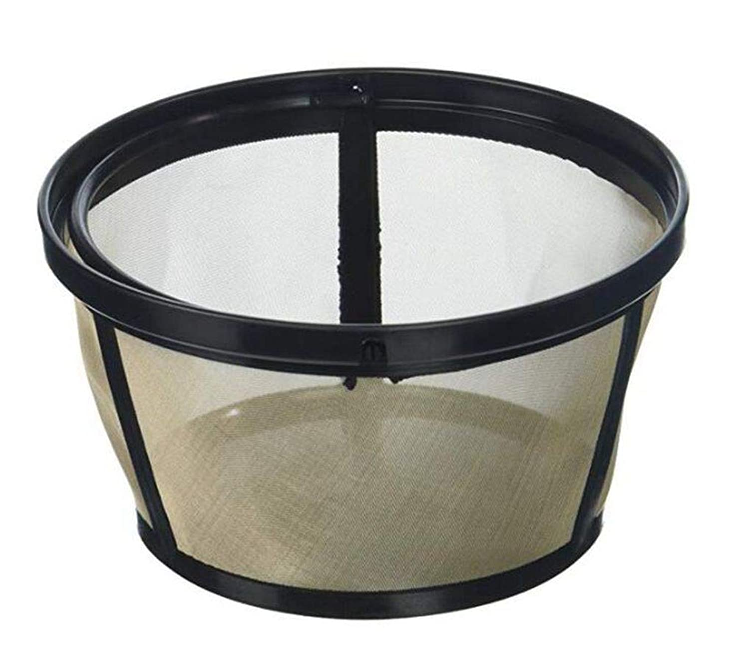 EDOBLUE Permanent Basket-Style Gold Tone Coffee Filter designed for Mr. Coffee 10-12 Cup Basket-Style Coffeemakers