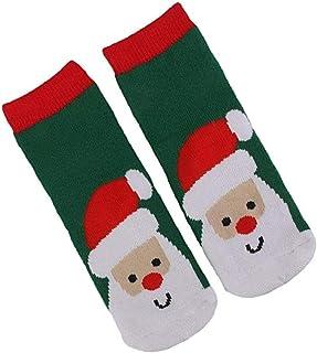 Aisoway, Infantil temático calcetines del invierno de X'mas Calentar calcetín de Papá Noel Soxs de 1 par Kids1-3 Edad