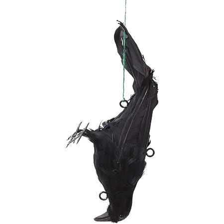 ALEC カラスよけ 吊り下げ羽毛カラス [32×13×10㎝] からすよけ/撃退/対策