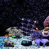 Podazz Decoración de acuario resplandeciente ornamento de planta de coral efecto brillante de silicona decoración artificial para pecera, paisaje de acuario (juego de salón)