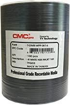 CMC Pro - Powered by TY Technology 16x White Inkjet Hub Printable 4.7GB DVD in Tape Wrap - 100 Pack