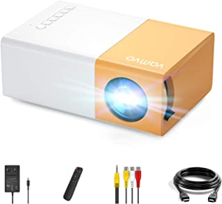 YG 300 Pro Proyector, Vamvo L2600 Mini Proyector Portátil para Movil, Soporta 1080p Full HD,Regalo Navidad Infantil, Recar...