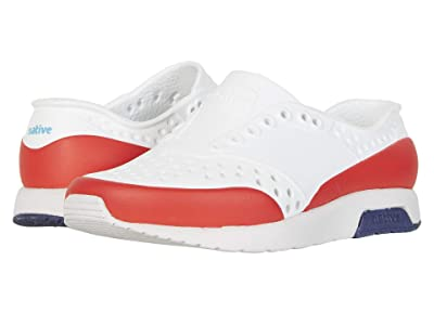 Native Kids Shoes Lennox Block (Toddler/Little Kid) (Shell White/Tundra Grey/Regatta Blue/Torch Block) Boy
