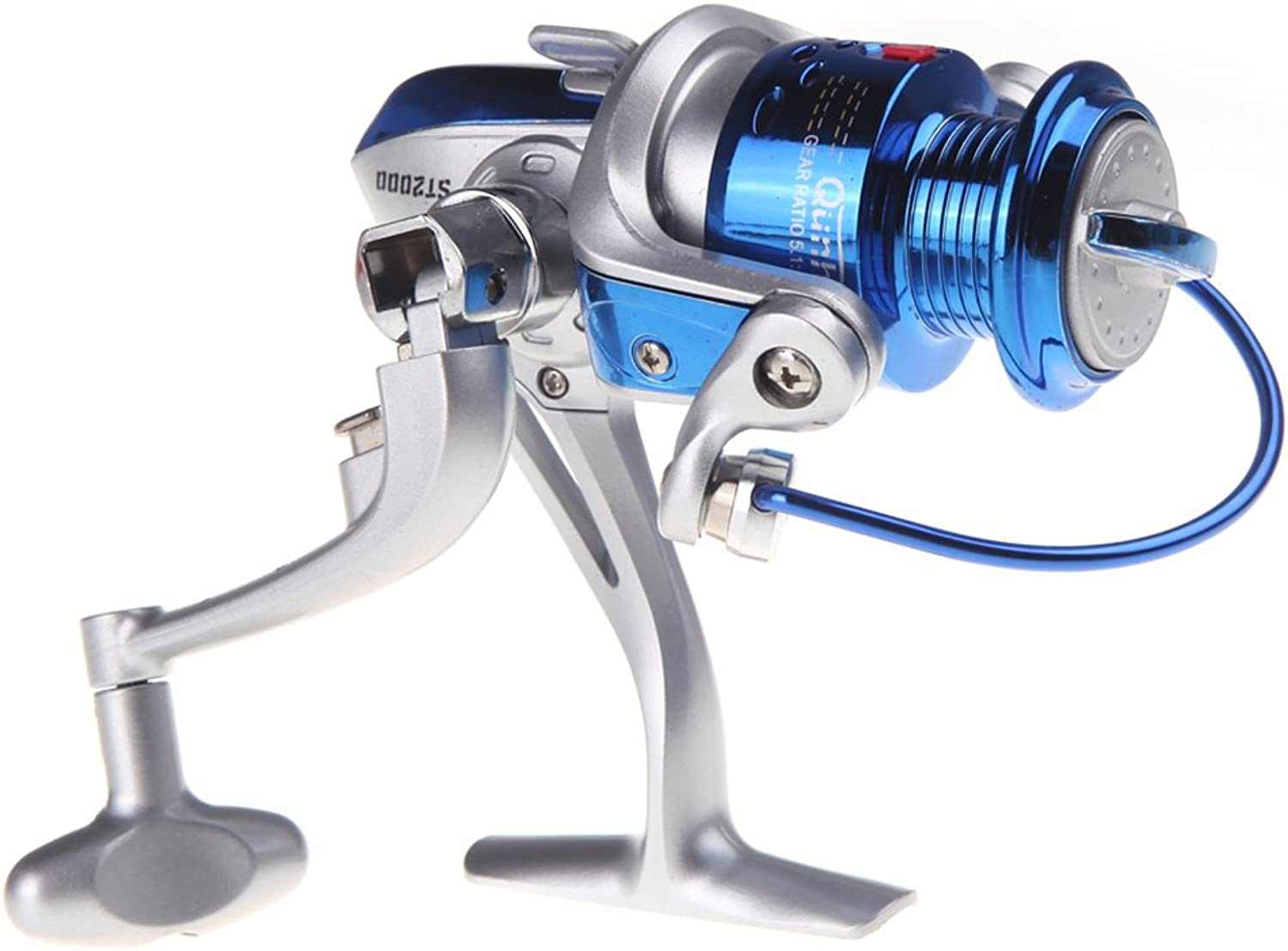 Heng Heng  8BB Ball Bearings ST2000 Left Right Interchangeable Collapsible Handle Fly Fishing Spinning Reel 5.1 1 bluee  HNGBGSPT000446
