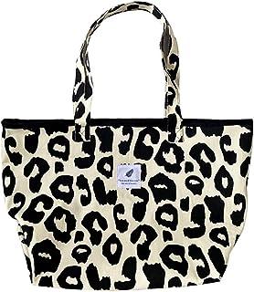BMBN Canvas tas, casual luipaardprint clutch tas grote capaciteit emmer tassen canvas schouder draagtas handtas mode dames...