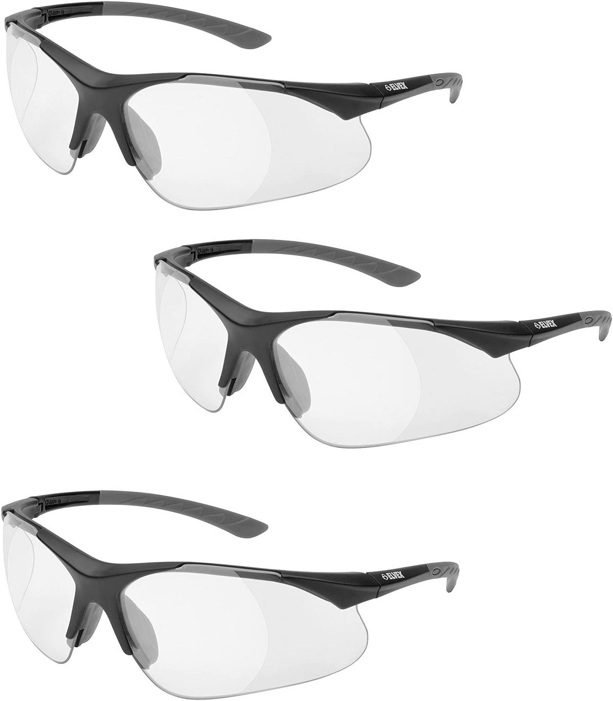 We OFFer at cheap prices Elvex RX-500C-1.5 Full Time sale Lens Magnifier Black Grey Temple Frame