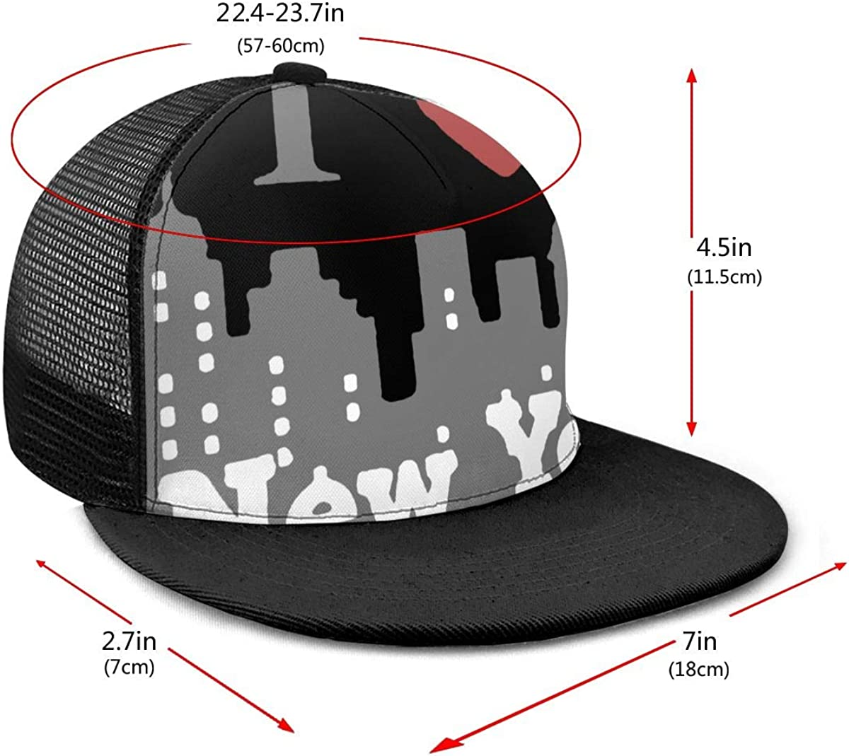 Cool Mesh Back Trucker Hat Unisex I Love PAPA Mesh Hat