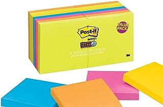 Post-it Notes Super Sticky - Rio De Janeiro Colors 3 x 3, 90/Pad - 16 Pads/Pack
