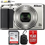 Nikon 26505B COOLPIX A900 20MP 4K WiFi Digital Camera w/35x Optical Zoom Silver + 16GB Bundle with 1 Year Extended Warranty - (Renewed)