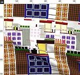 Geometrisch, Architektur, Stadt Stoffe - Individuell