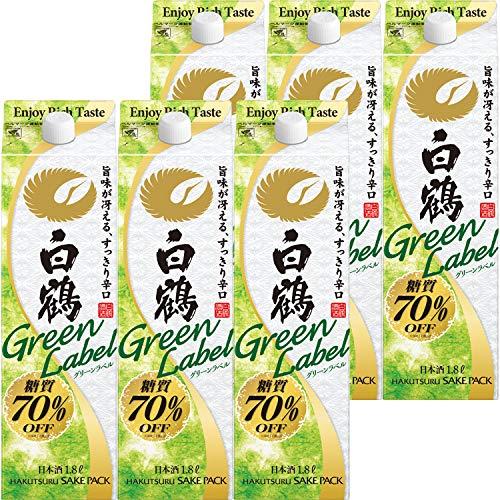 白鶴酒造 サケパック Green Label グリーンラベル [ 日本酒 兵庫県 1800ml×6本 ]