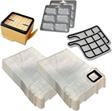 Relaxdays vk135 136 Sacchetti in Microfibra 12 Profumi Epa Piu 2 Filtri Motore per Folletto, Aspirapolvere Vorwerk Adattabili, Paper