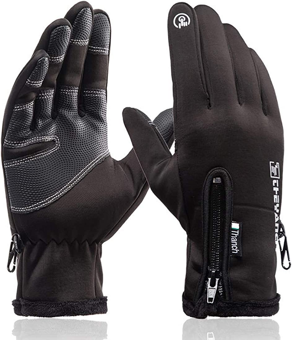 Winter Gloves Men Women Touchscreen Waterproof Running Gloves Cold Weather Warm Gloves Driving Cycling skiing