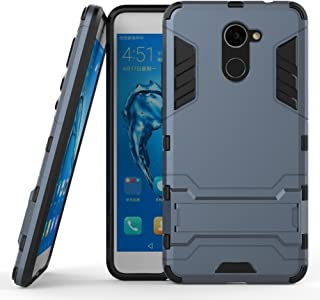 DWaybox 2 in 1 Heavy Duty Armor Hard Back Case with Kickstand Compatible with Huawei Ascend XT2 H1711/HUAWEI Y7 2017/Elate 4G LTE/Huawei Enjoy 7 Plus/Y7 Prime 2017 5.5 Inch (Black Plus Gray)