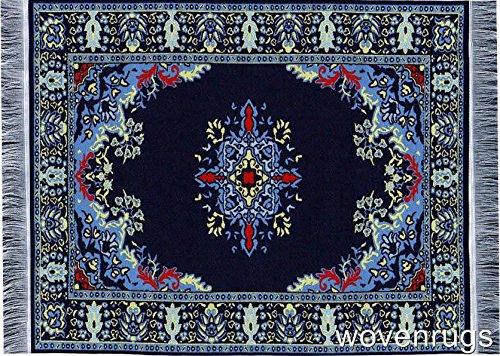 Inusitus Teppich Mauspad - Büro Zubehör - Orientalischer Mini Teppich Computer Zubehör (Navy)