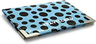 Soft Leather Travel Card Bus Pass Credit Card ID Card Wallet Cover Case Holder by Kwik Buy (Polka Dot Light Blue)