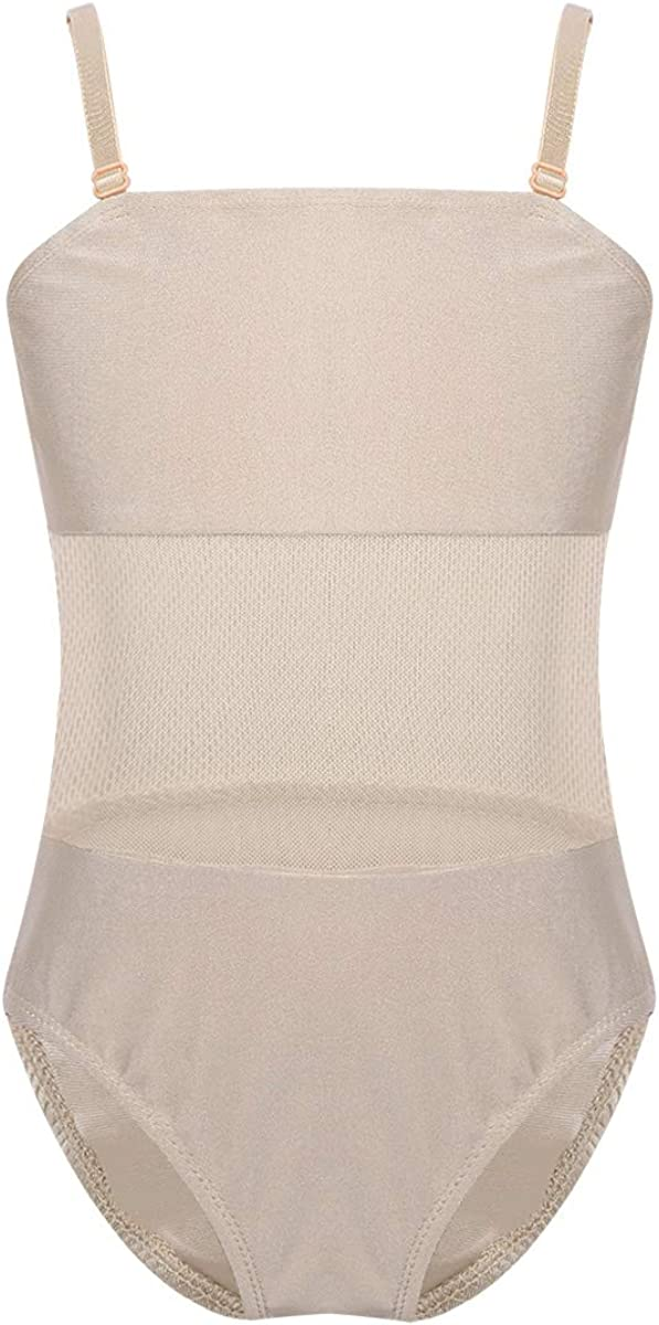 inhzoy Girls Adjustable Straps Mesh Camis Selling and Max 43% OFF selling Ballet Dance Splice Le