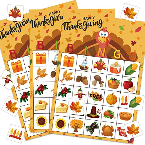 Thanksgiving Bingo for Kids Thanksgiving Bingo Game for Kids Fall Bingo Game Thanksgiving Bingo Cards for Toddlers Thanksgiving Activities for Family Kids Classroom Party