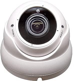 1stPV 1080P True-HD 4in1 (TVI, AHD, CVI, CVBS) CCTV Security D/N Out/Indoor Color IR Dome Camera 2.8-12mm Varifocal Lens SONY 2.4 Megapixel STARVIS WDR Weather/Vandalproof Metal Housing 12VDC (White)