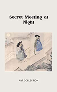 Secret Meeting at Night, Art collection: Artistic paper notebook, Korean Old Painting from Joseon dynasty by Shin Yun-Bok ...