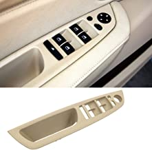 Jaronx for BMW X5/X6 Driver Side Door Handle,Window Switch Door Armrest Panel Pull Strap Trim Cover for BMW X5 2008-2013 and BMW X6 2008-2014 (Beige)