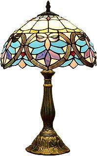 Jay Lámpara de Mesa barroca Tiffany Francesa Tulip Flores diseño de Escritorio iluminación Retro Vidrio de Vidrio artesaní...