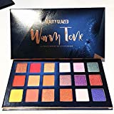 Beauty Glazed 18 Warm Colors Eye Shadow Palette Waterproof Durable Glitter Shimmer Eye Makeup Eyeshadow Palette Highly Pigmented Professional Pearl Glitter Powder