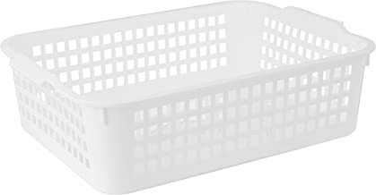 Inomata 4518 Windy Wide Basket, White