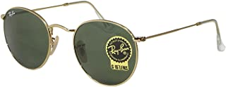 Ray Ban RB3447 Round Metal 001 Gold Sunglasses 47mm