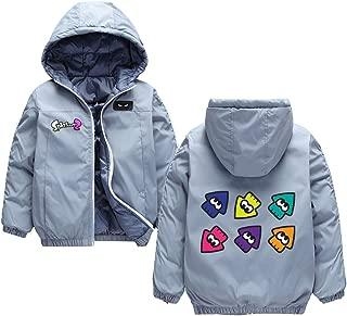 Omnnnelpo Splatoon Pullover Children Hooded Wadded Jacket Cartoon Printed Thick Jacket Warm Casual Kids Coat Boys